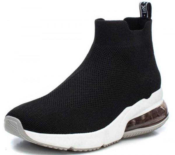 High Top Stretch Sneaker aus Spanien, schwarz