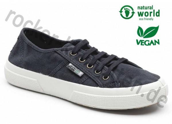Vegane Sneaker von Natural World aus Spanien Farbe marino