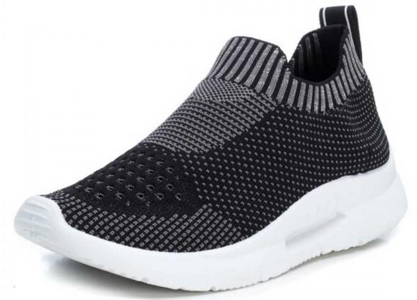 Stretch Sneaker aus Spanien, schwarz mit grau (negro)