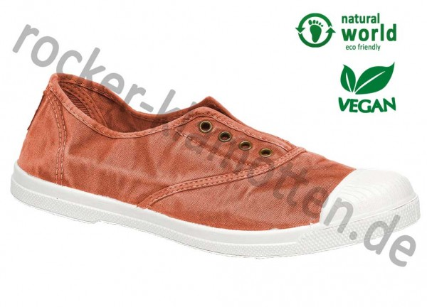 Vegane Sneaker 102E von Natural World aus Spanien Farbe cangrejo