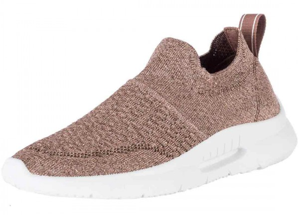 Bequemer Sneaker aus Spanien, Stretch, Farbe bronce