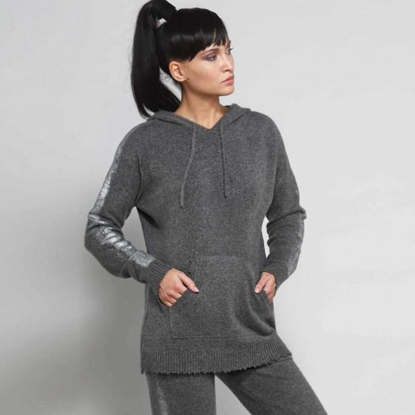 Warmer, weicher Kapuzen-Pullover vom italienischen Label DEHA