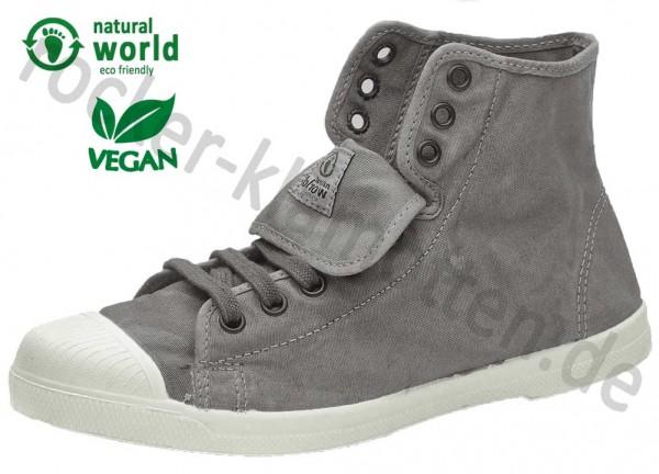 Vegane High Top Sneaker 107E von Natural World aus Spanien Farbe grau (gris claro)