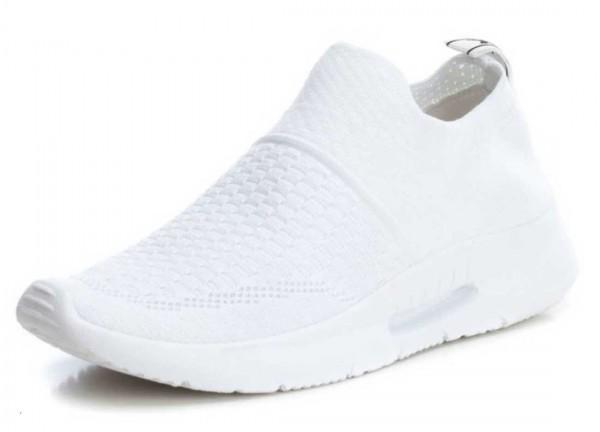 Bequemer Sneaker aus Spanien, Stretch, Farbe weiß (blanco)