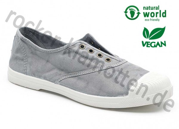 Vegane Sneaker 102E von Natural World aus Spanien Farbe grau (gris claro)