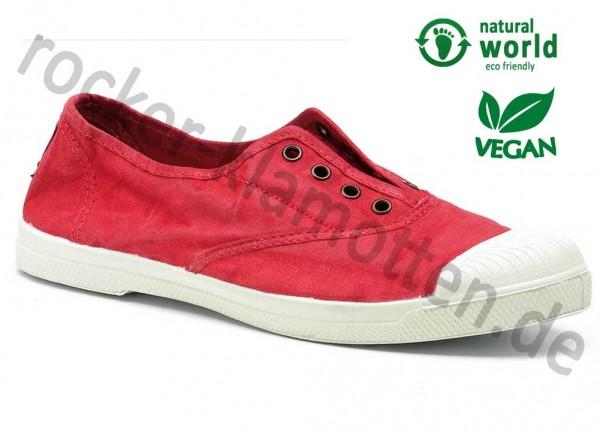 Vegane Sneaker 102E von Natural World aus Spanien Farbe rot (rojo)
