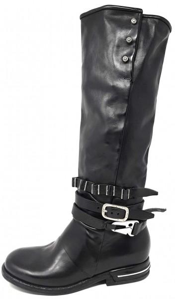 AS98 516306 TEAL eleganter Stiefel aus Kalbsleder mit Schnallen