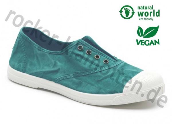 Vegane Sneaker 102E von Natural World aus Spanien Farbe grün (menta)