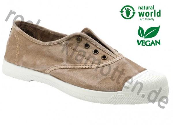Vegane Sneaker 102E von Natural World aus Spanien Farbe beige