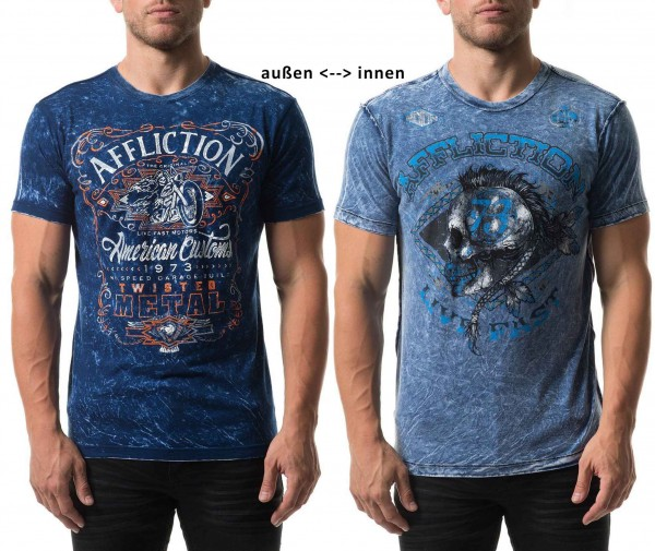 Affliction Wende-Shirt American Customs LEXINGTON Reversible aus den USA