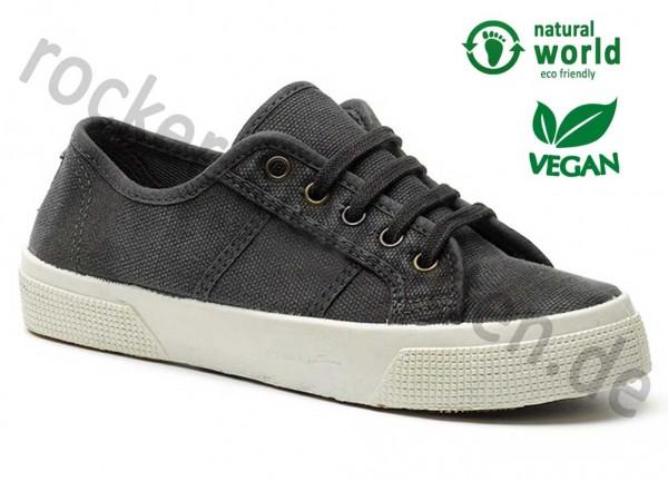 Vegane Sneaker von Natural World aus Spanien Farbe negro